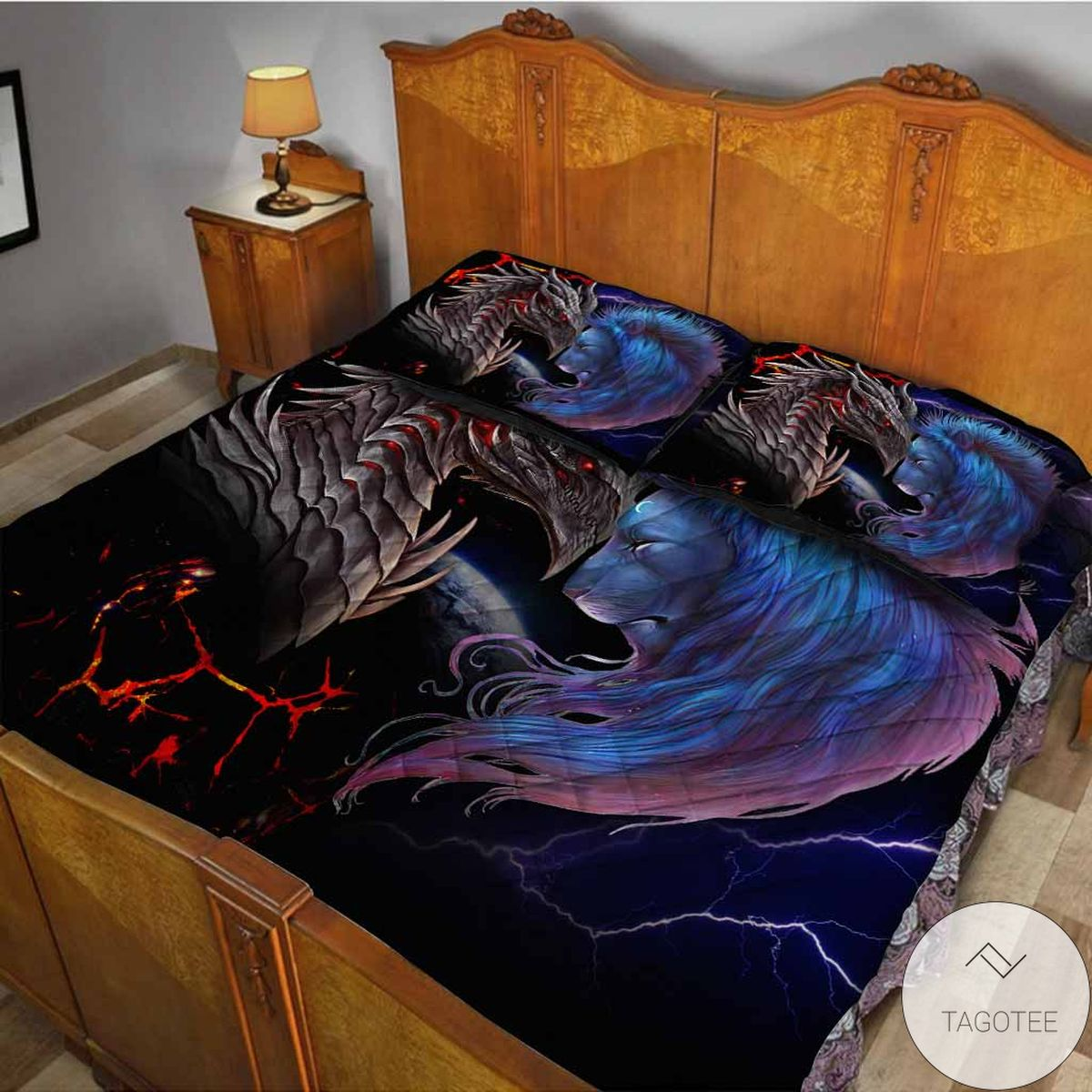 Popular Soul Of A Dragon Bedding Set