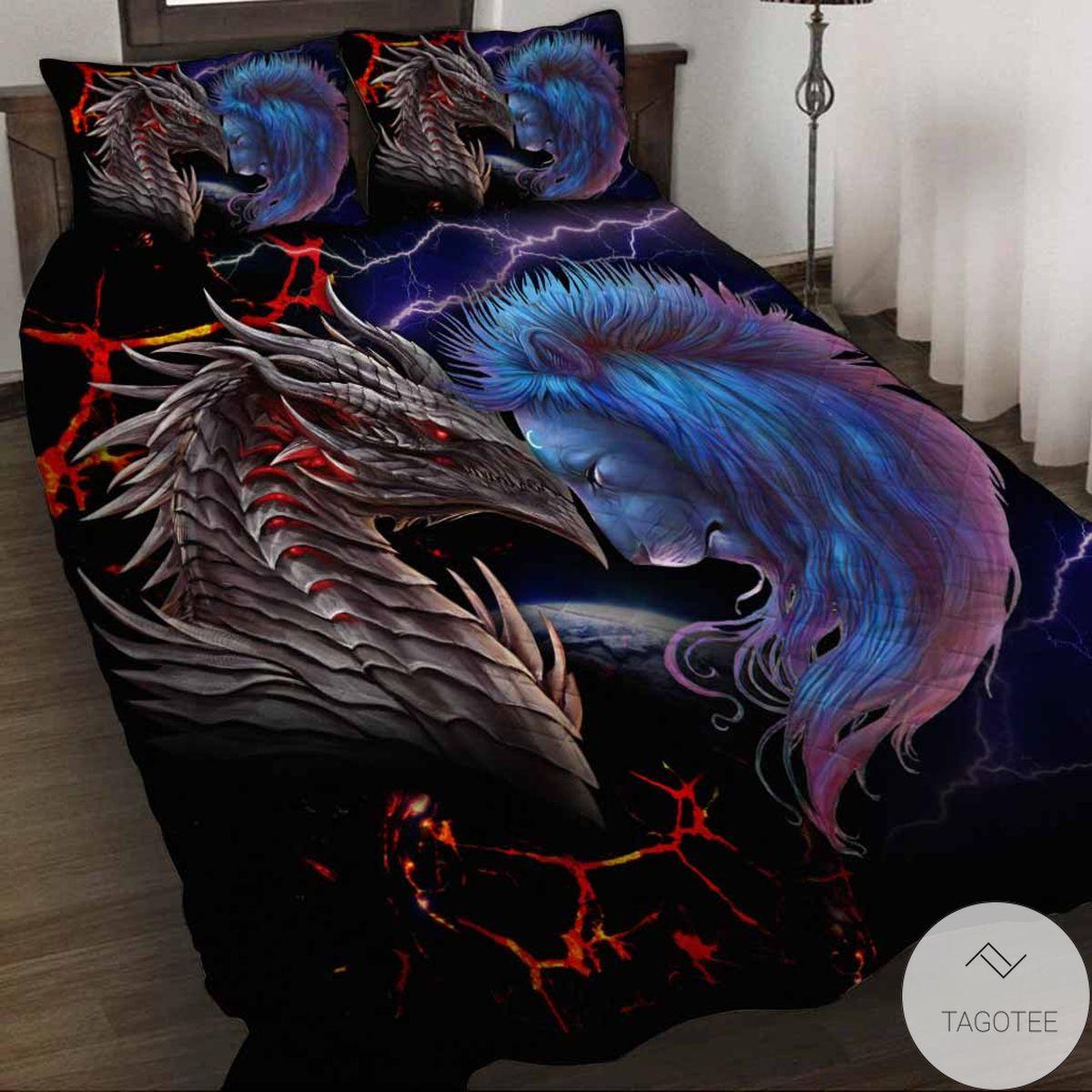 Vibrant Soul Of A Dragon Bedding Set