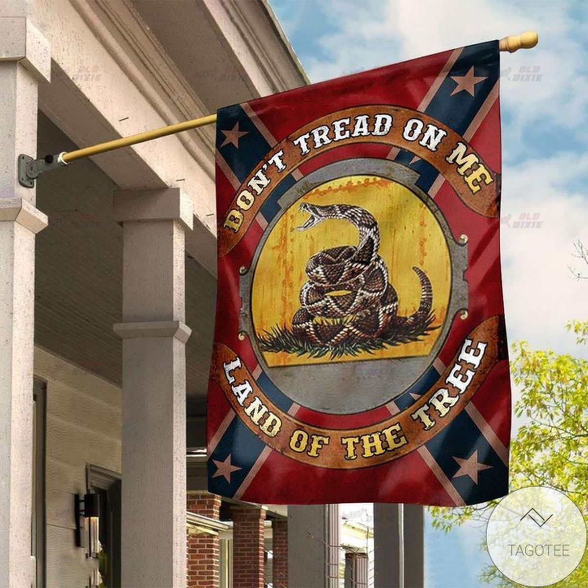 Southern Don't Tread On Me Land Of The Tree Flag