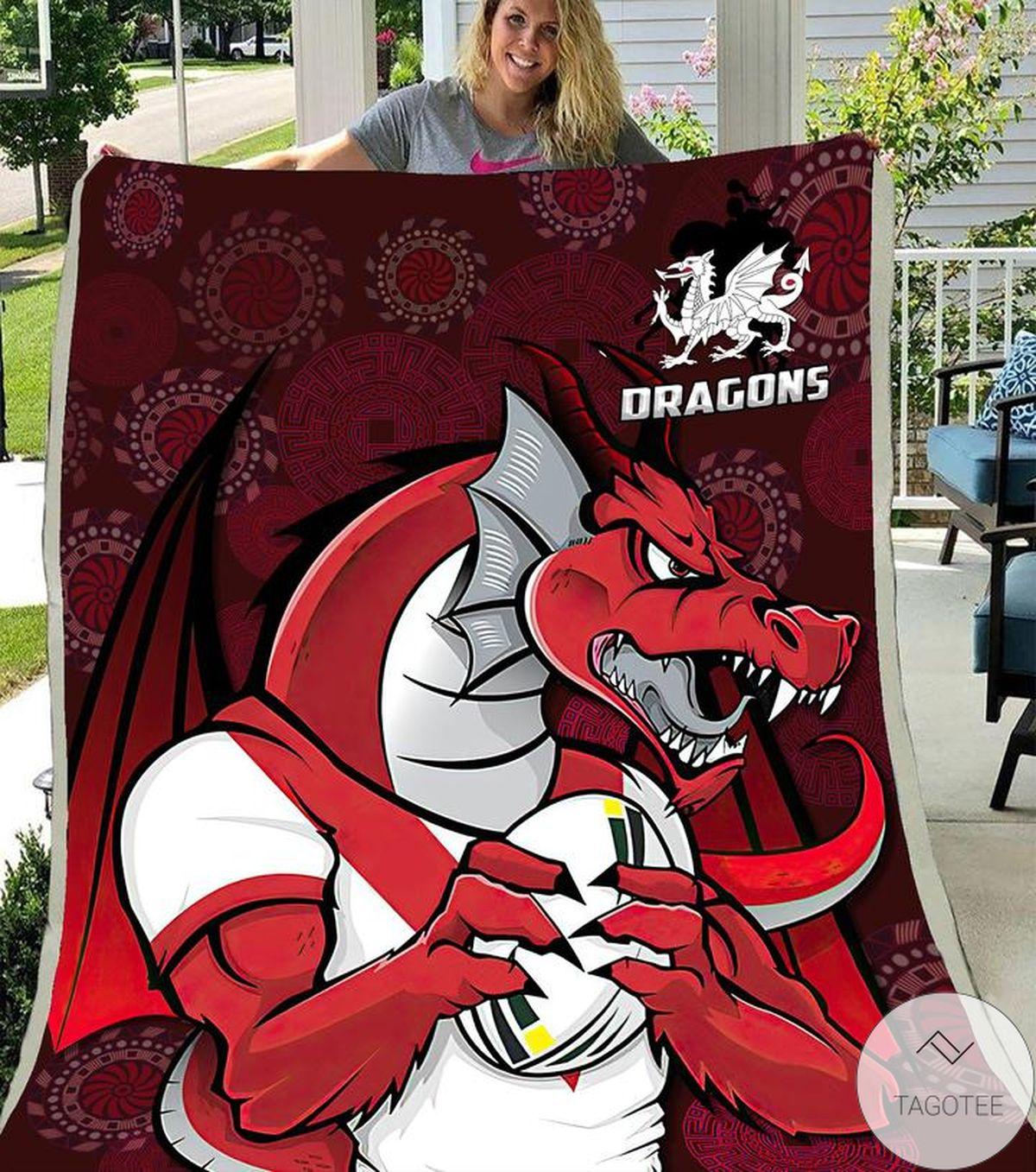 POD St. George Illawarra Dragons Blanket