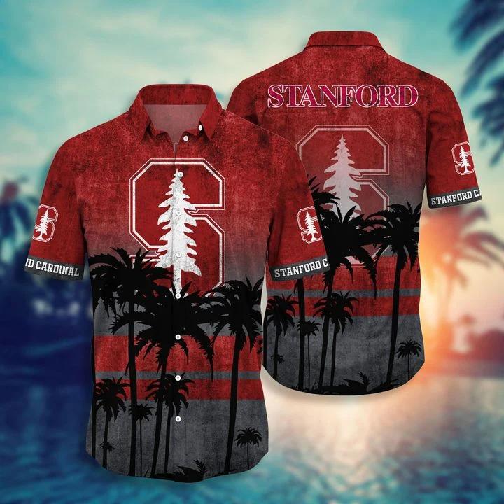 Father's Day Gift Stanford Cardinal Tropical Hawaiian Shirt, Beach Short