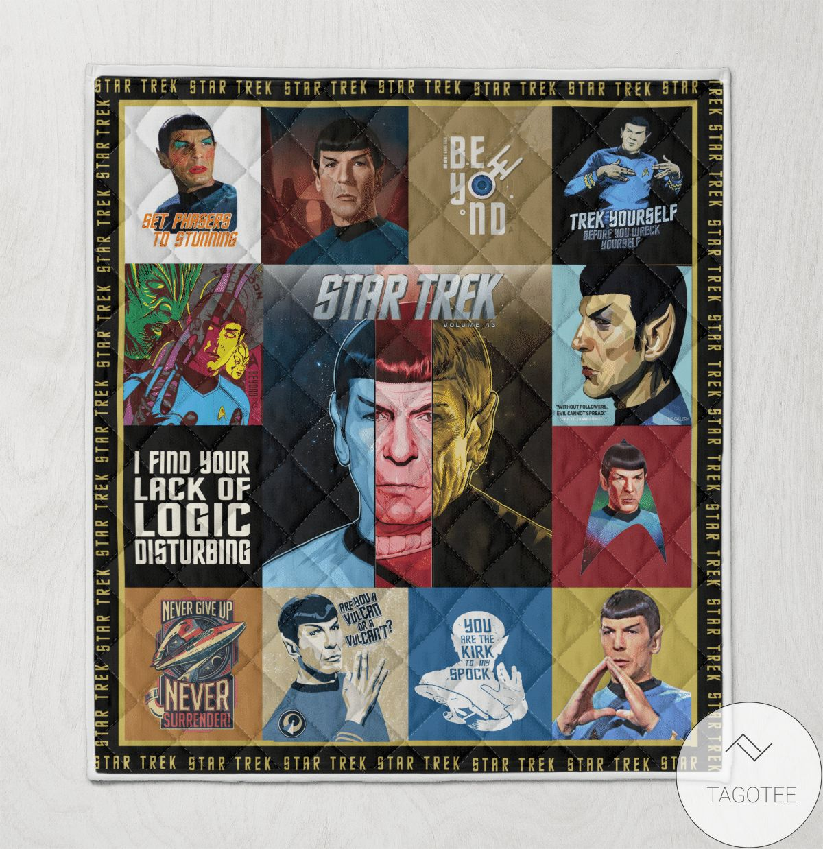 Star Trek Quilt Blanket Quilt