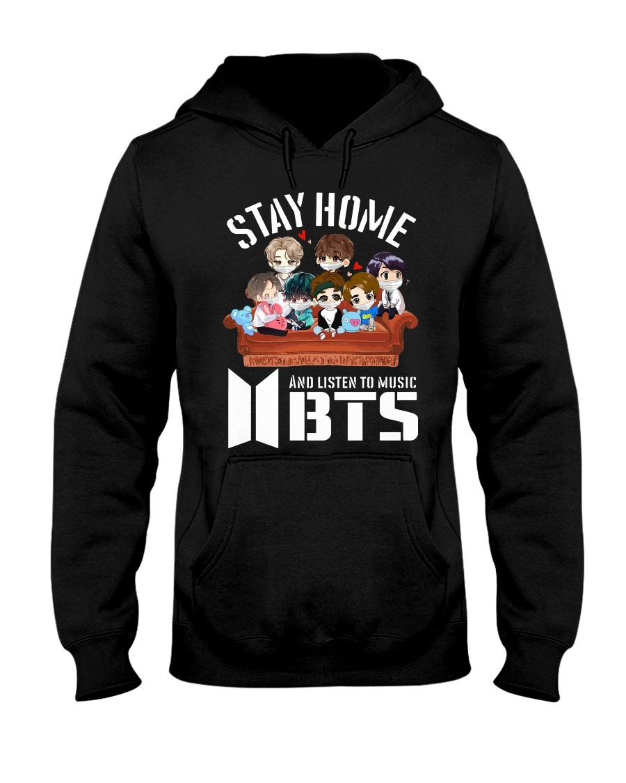 Stay home and listen to music BST hoodie
