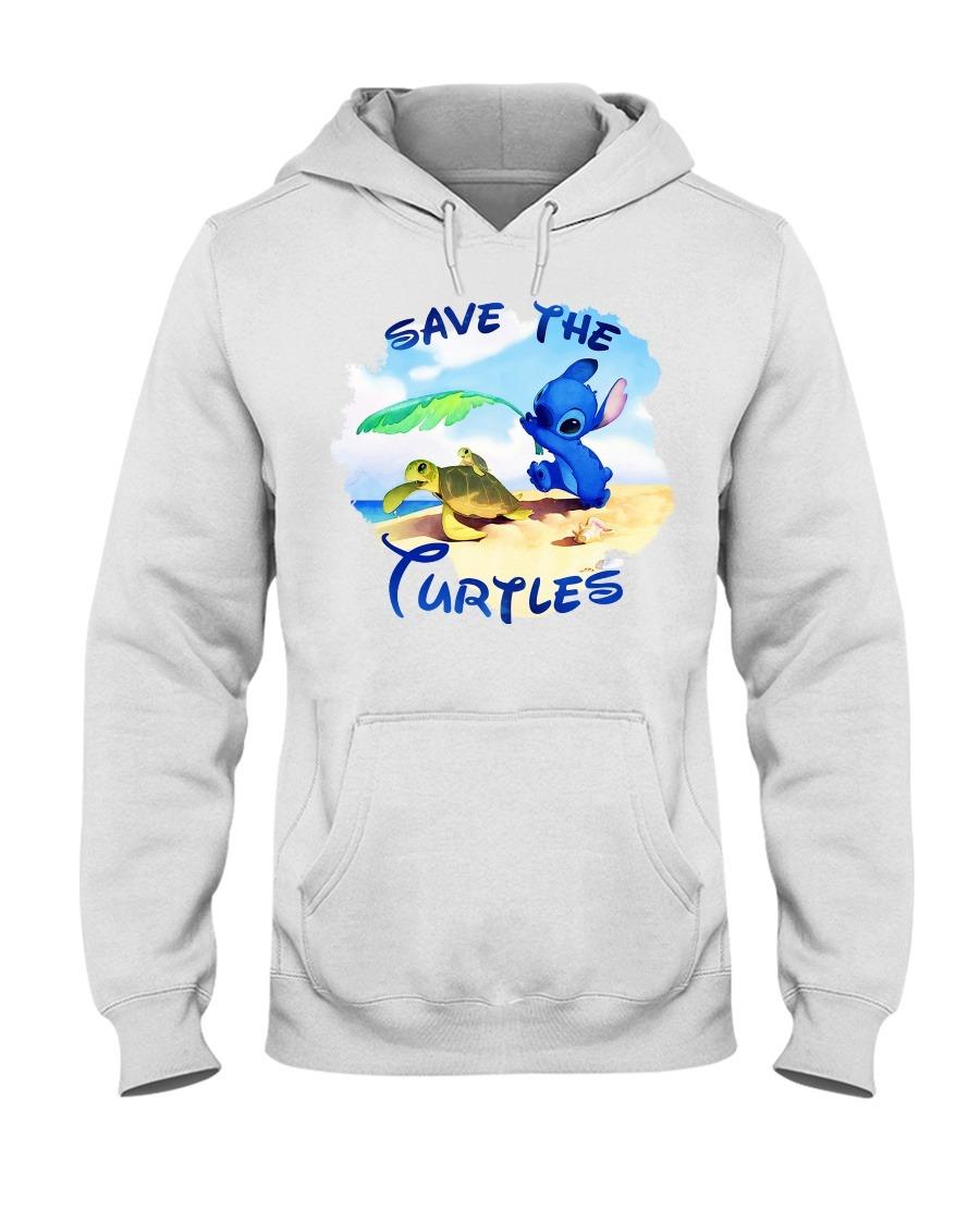 Stitch Save the turtles Hoodie