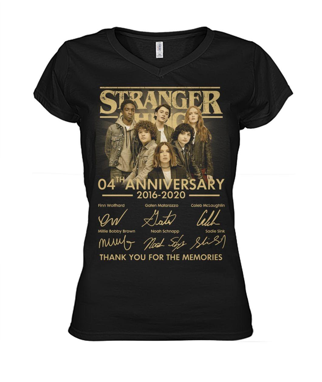 Stranger Things 04th Anniversary V-neck