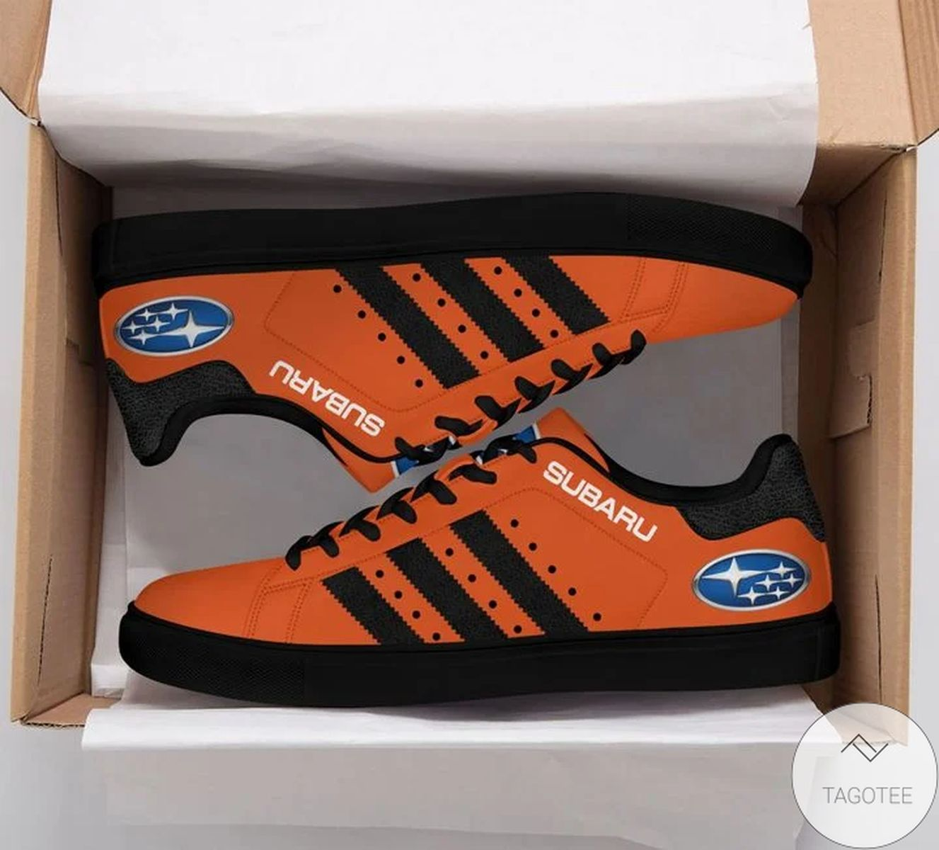 Subaru Orange Stan Smith Shoes