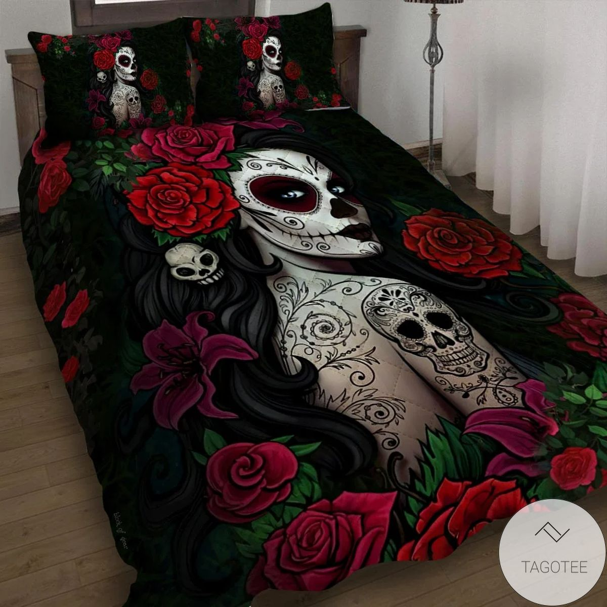 Absolutely Love Sugar Skull Girl Bedding Set
