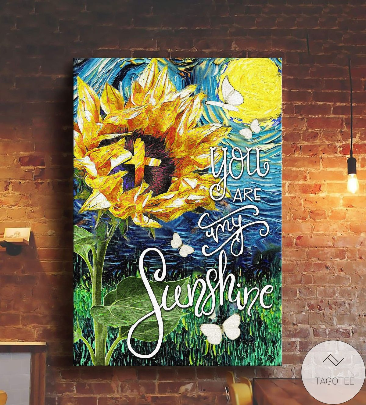 Great Sunflower You Are My Sunshine Oil Paint Canvas