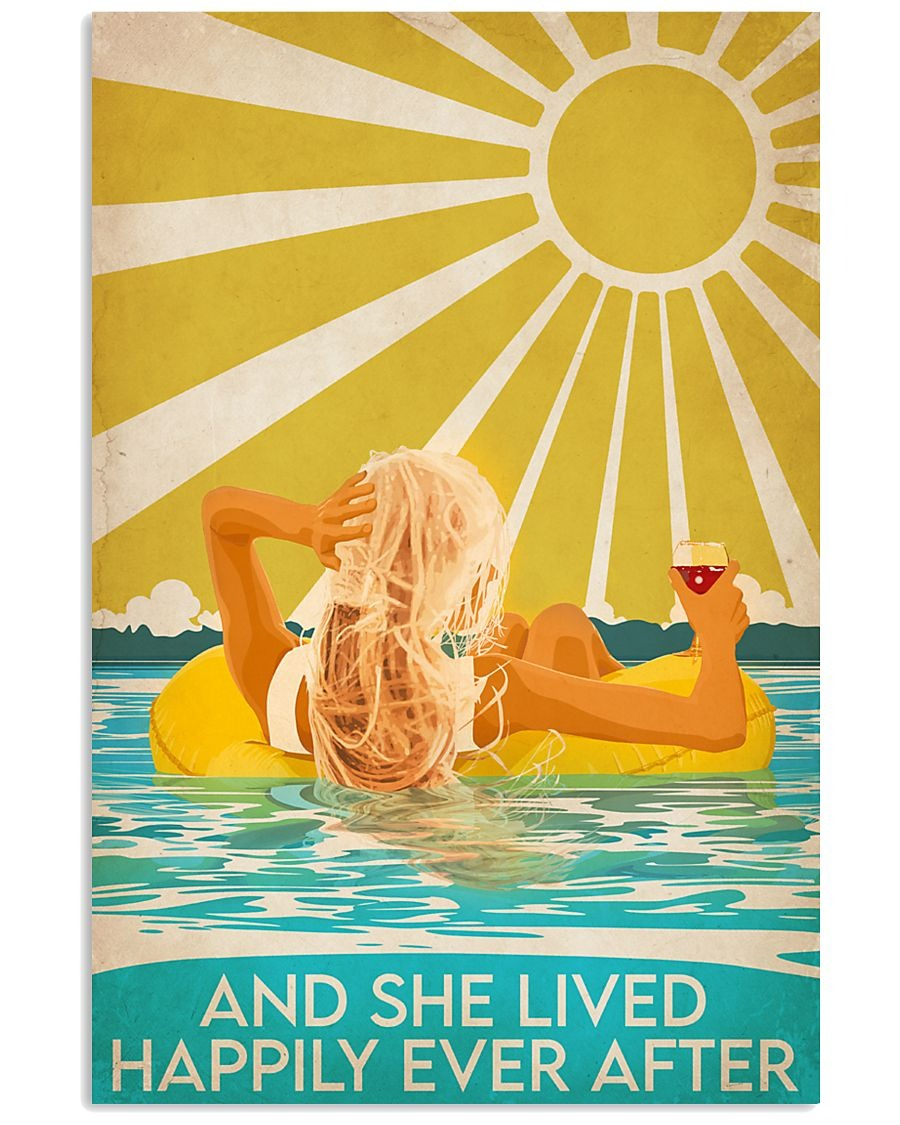 Swimming Beach And she lived happily ever after poster 1