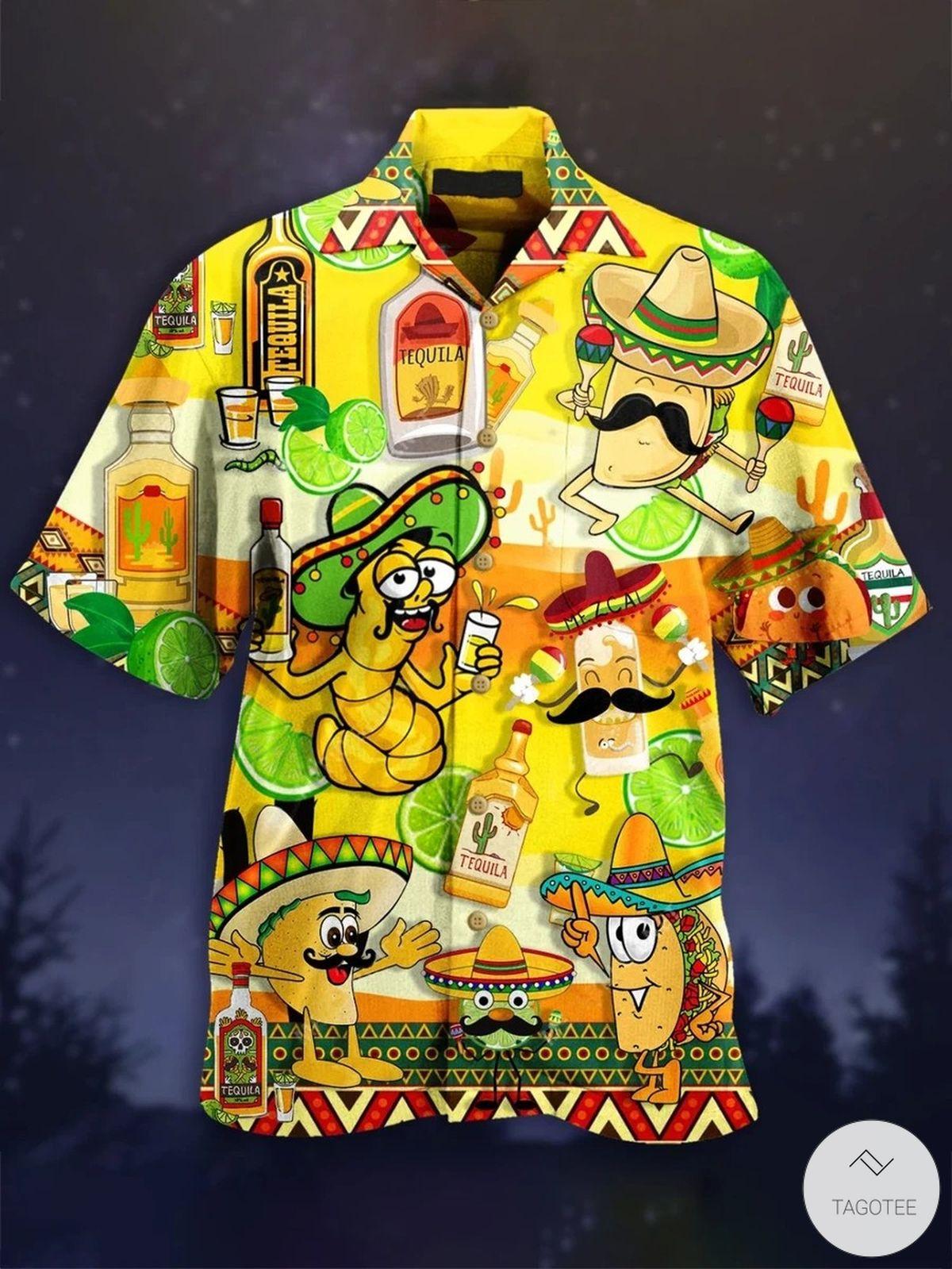 Tacos Tequila Hawaiian Shirt