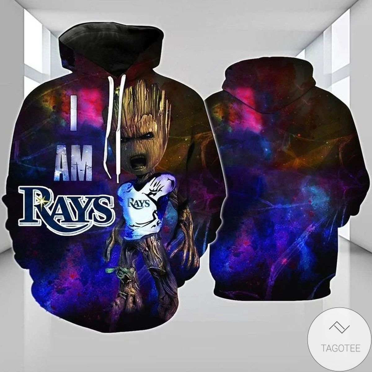 Tampa Bay Rays I Am Groot 3D Hoodie