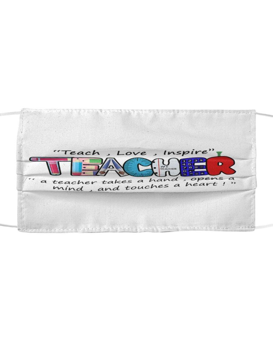 Teach, Love, Inspire Teaccher cloth mask