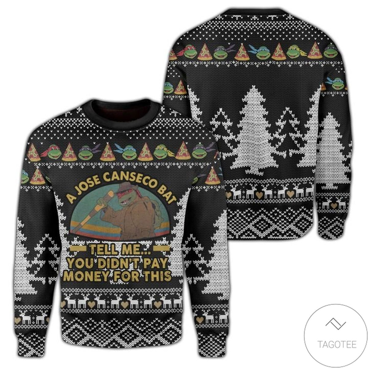 Teenage Mutant Ninja Turtles Tell Me You Didn't Pay Money For This Ugly Christmas Sweater
