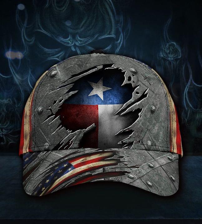 Texas American Flag 3D Cap