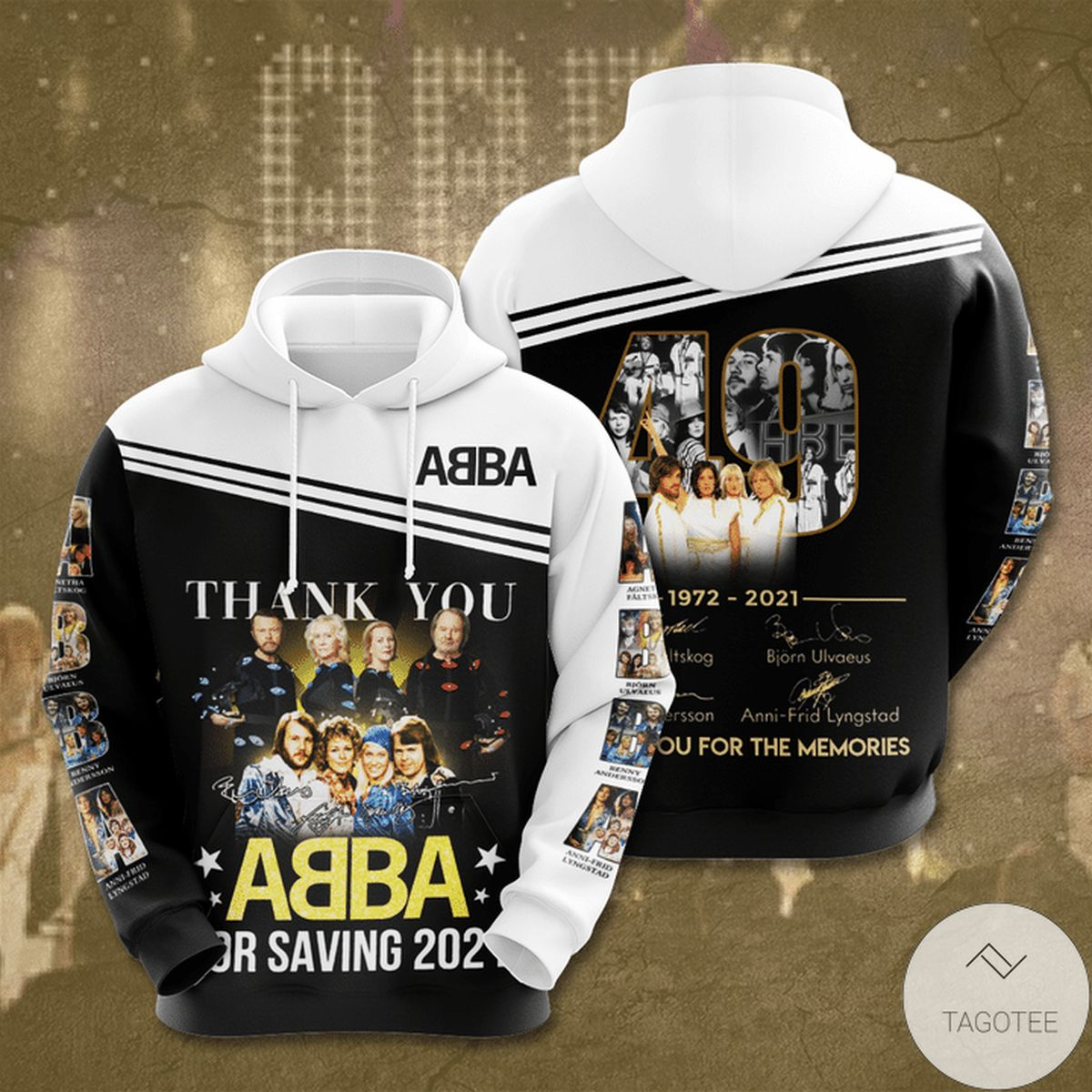 Thank You ABBA For Saving 2021 3d Hoodie