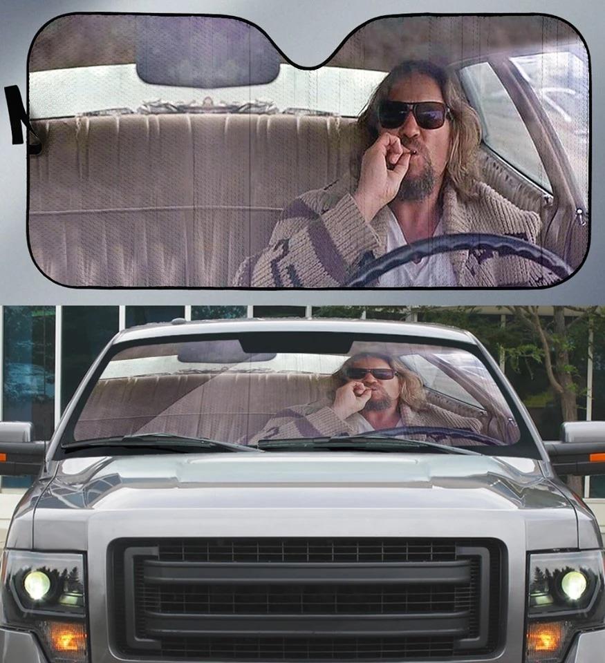 The Big Lebowski - Smoking Car Crash Scene Car Sun Shade
