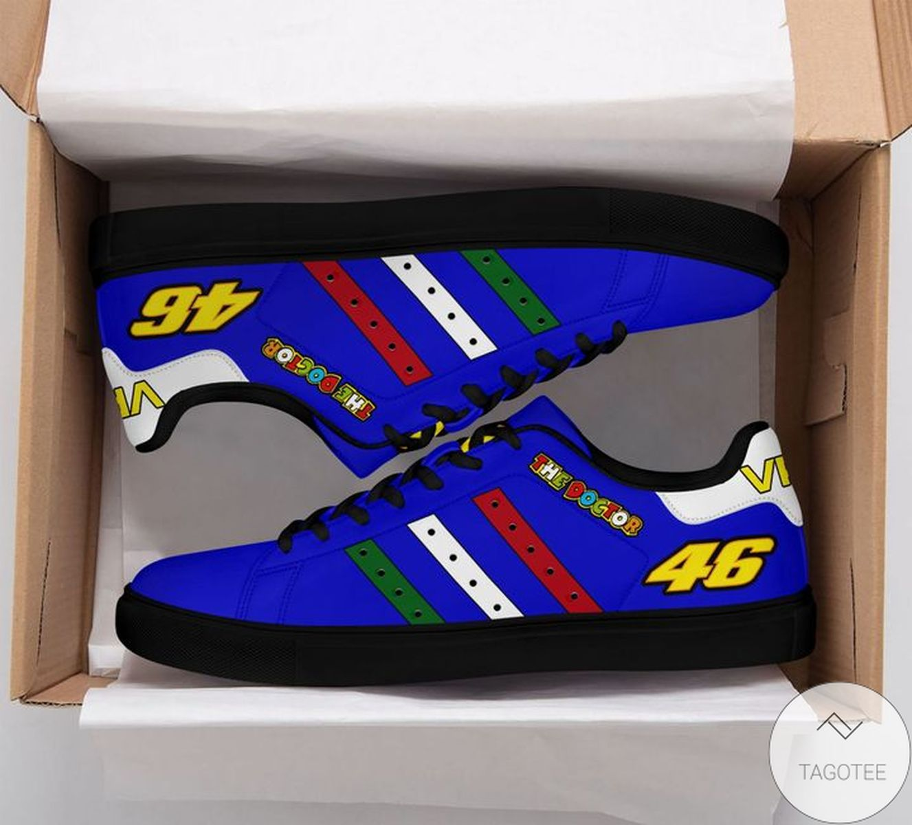 The Doctor Vr46 Blue Stan Smith Shoes