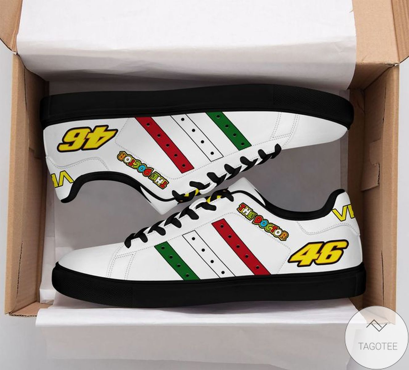 Print On Demand The Doctor Vr46 White Stan Smith Shoes