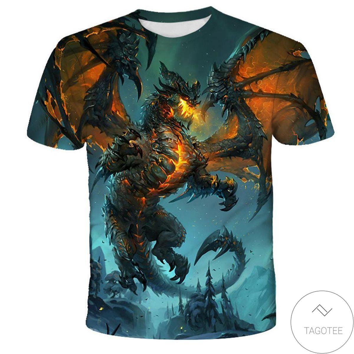 Print On Demand The Dragon 3d Graphic Printed Short Sleeve Shirt