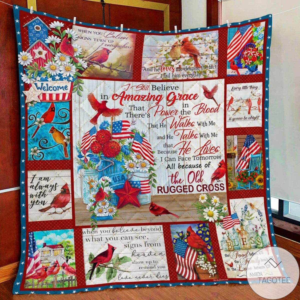 The Old Rugged Cross Cardinal Quilt