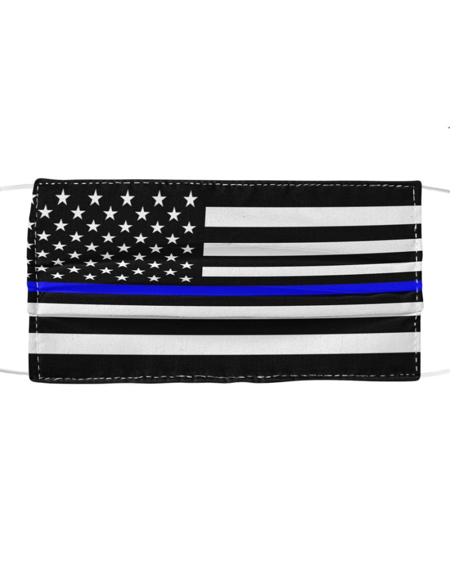 The Thin Blue Line American flag Cloth Face Mask 2