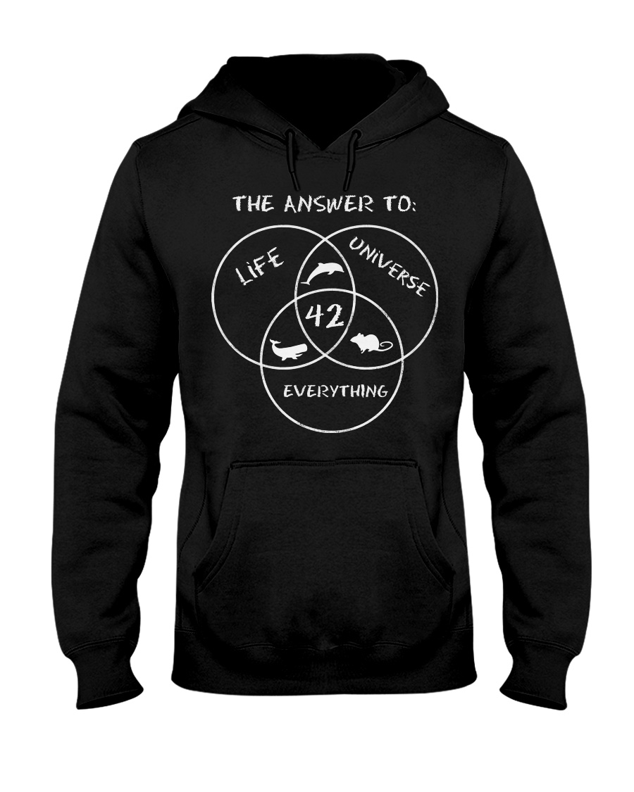 The answer to life universe everything 42 hoodie
