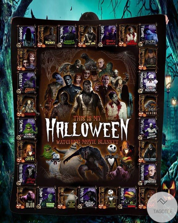This Is My Halloween Watching Movie Horror Blanket