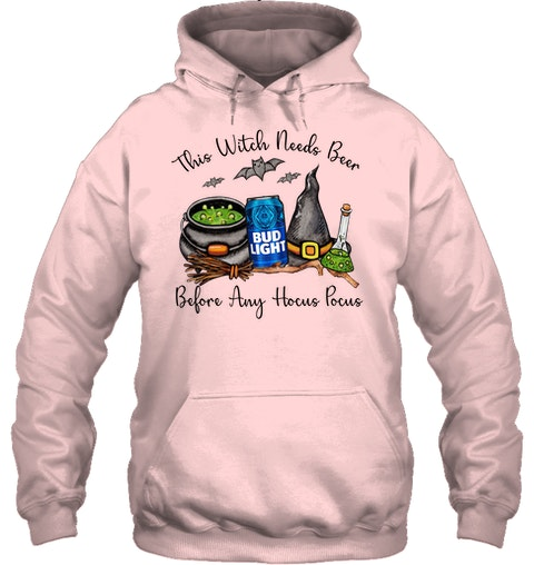 This witch needs beer before any Hocus Pocus Bud Light hoodie
