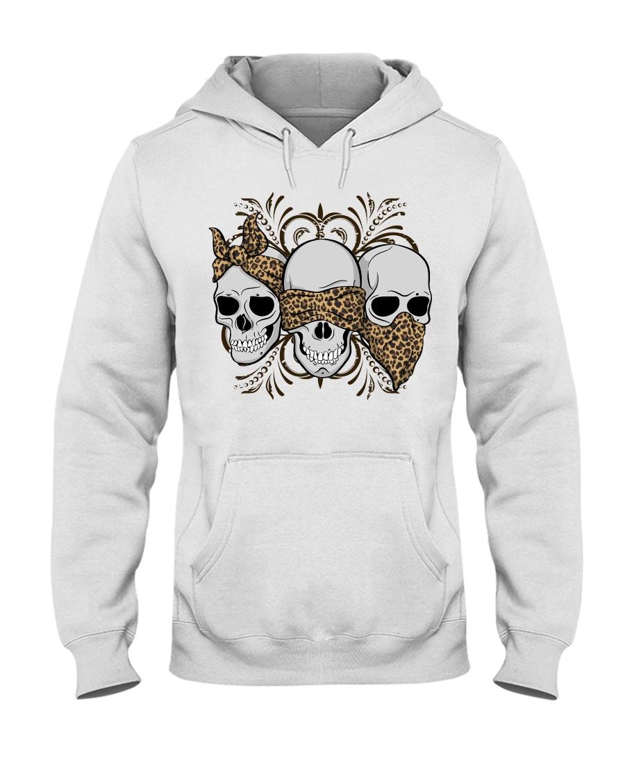 Three Skull Leopard Skin hoodie