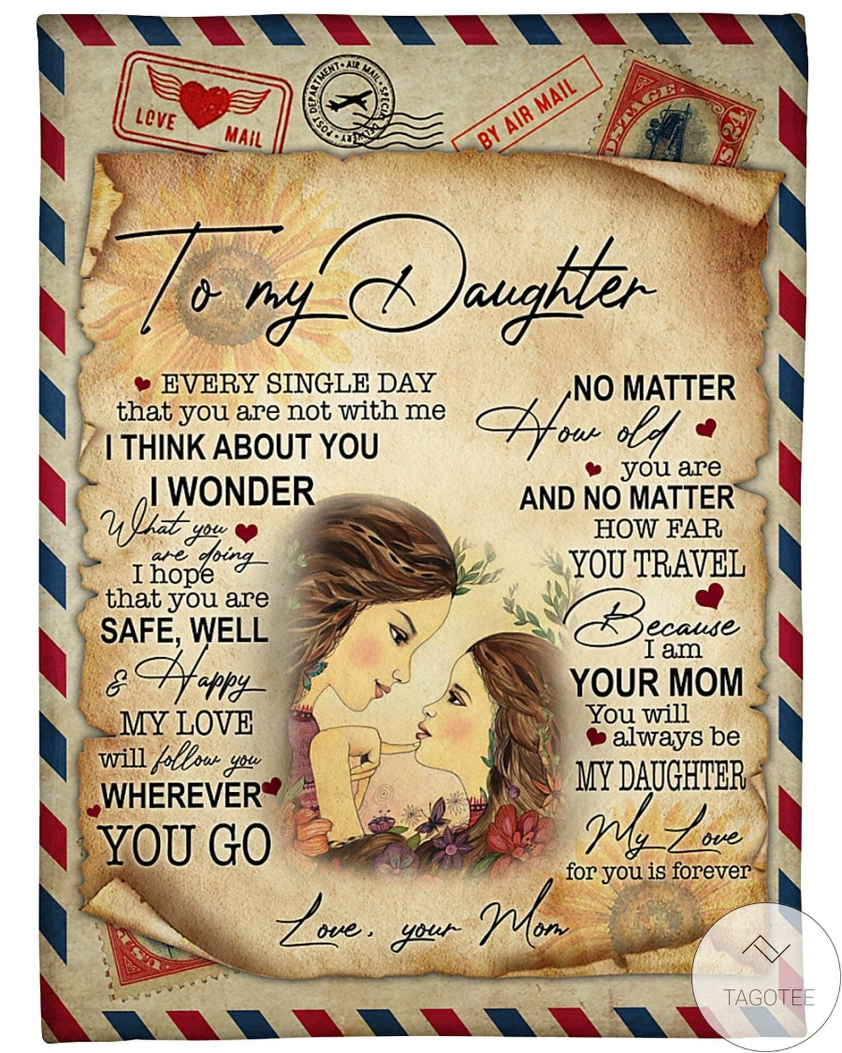 To My Daughter My Love For You Is Forever Blanket