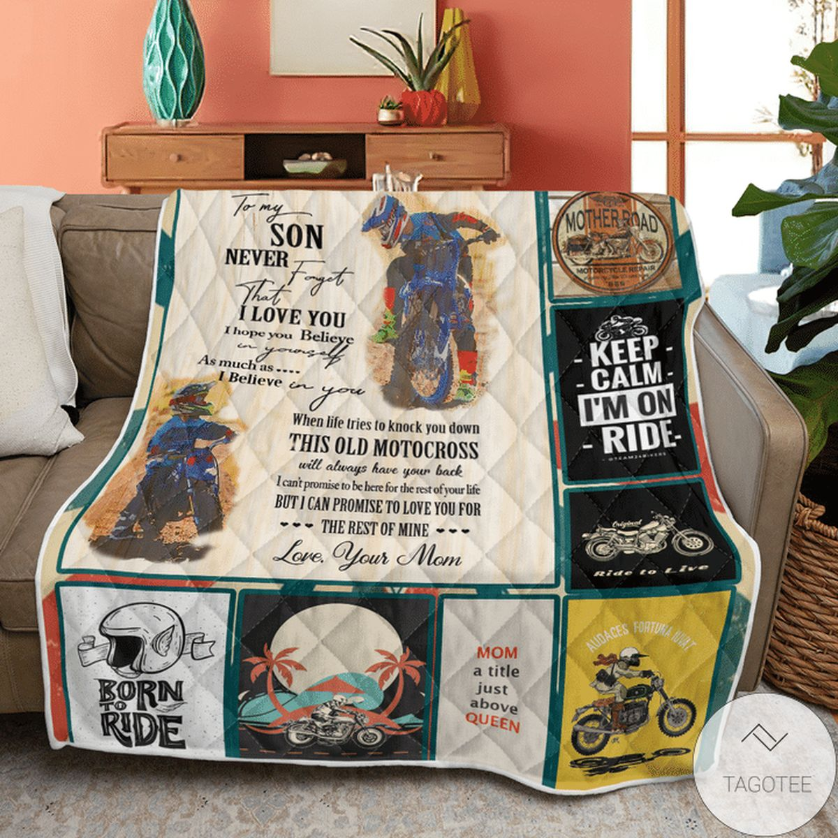Hot Deal To My Son Never Forget That I Love You I Hope You Believe In Yourself Quilt