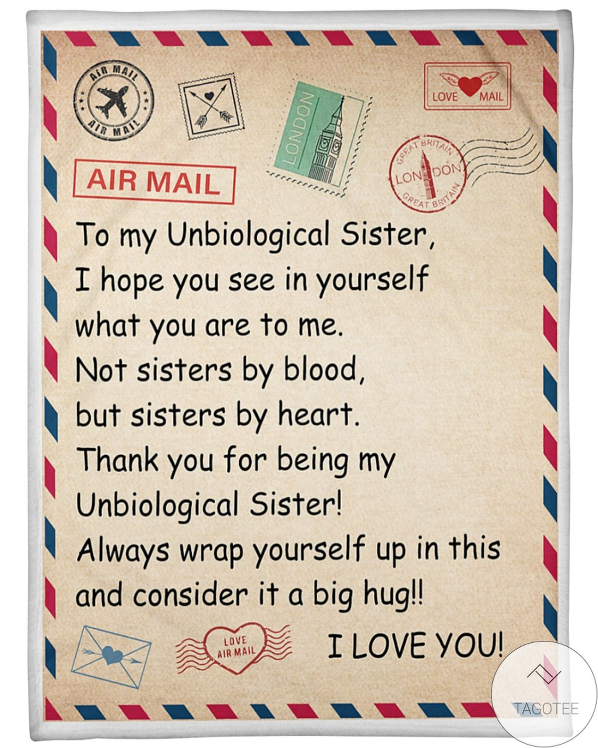 To My Unbiological Sister I Love You Blanket