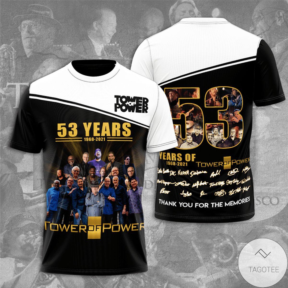 Tower Of Power 53 Years Anniversary 3d Shirt