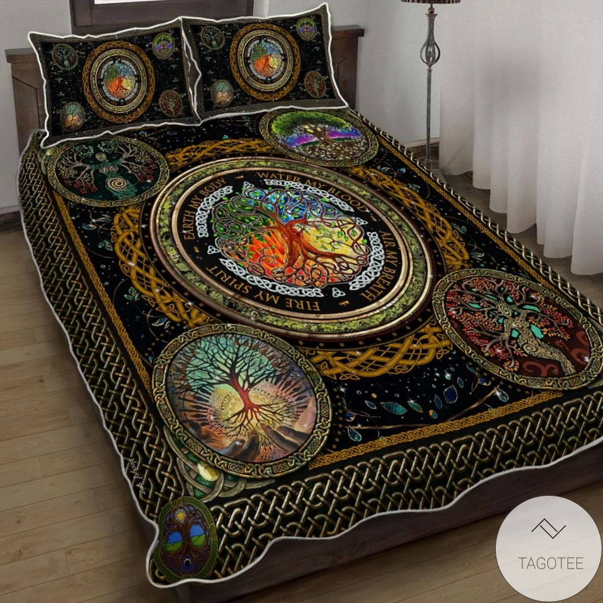 Tree Of Life Earth My Body Water My Blood Bedding Set