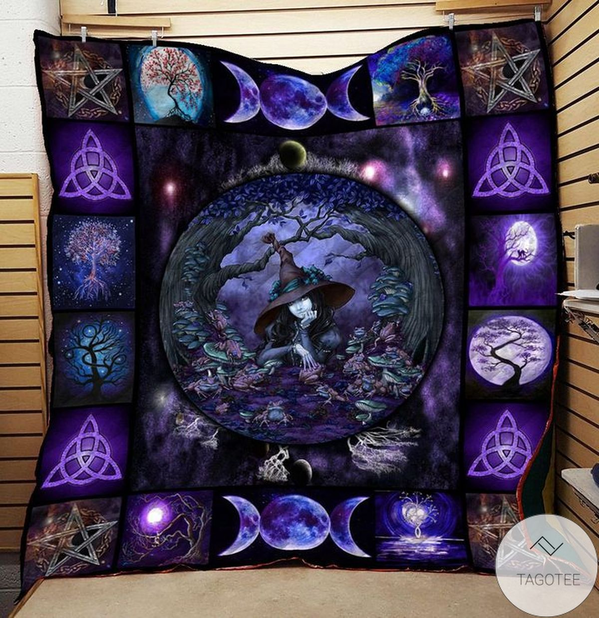 Luxury Tree Of Life Wicca Witch Quilt