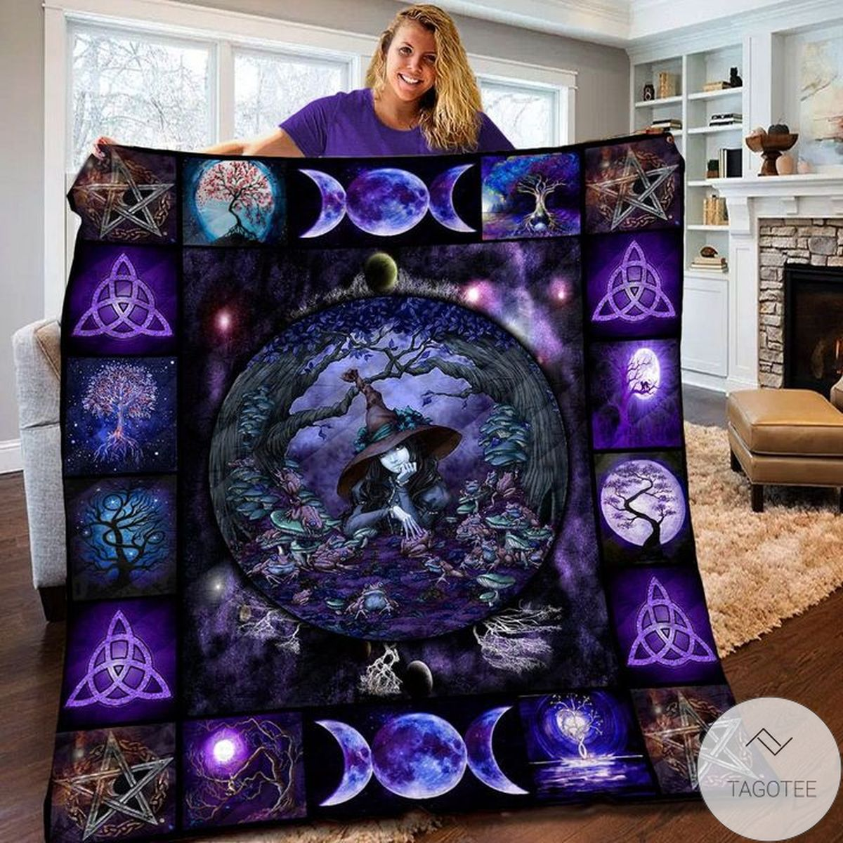 Tree Of Life Wicca Witch Quilt