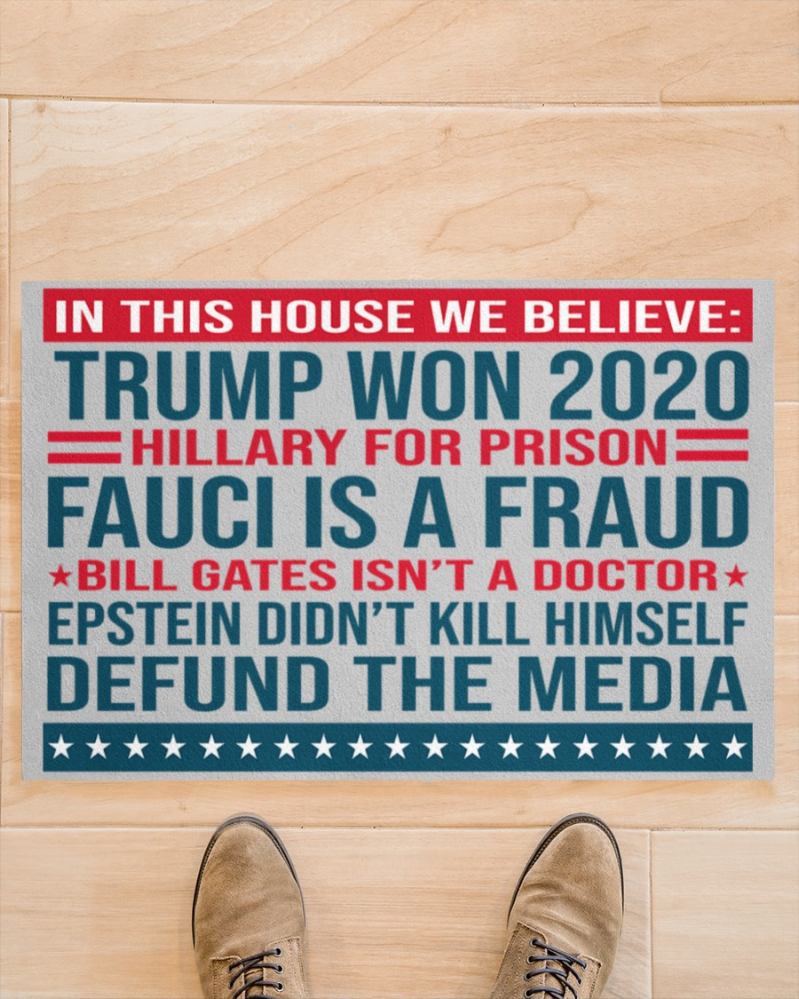 US Shop Trump Won 2020 Hillary For Prison Fauci Is A Fraud Doormat