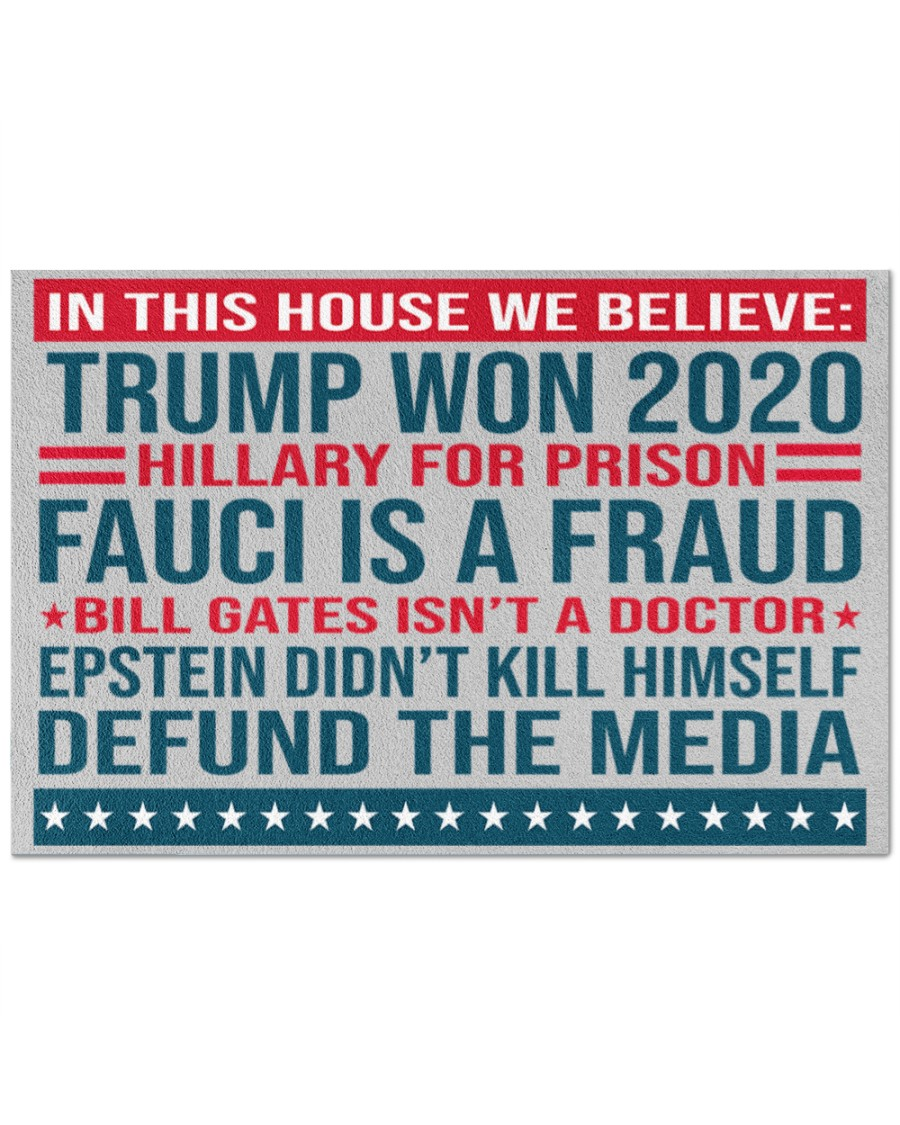 Great Quality Trump Won 2020 Hillary For Prison Fauci Is A Fraud Doormat