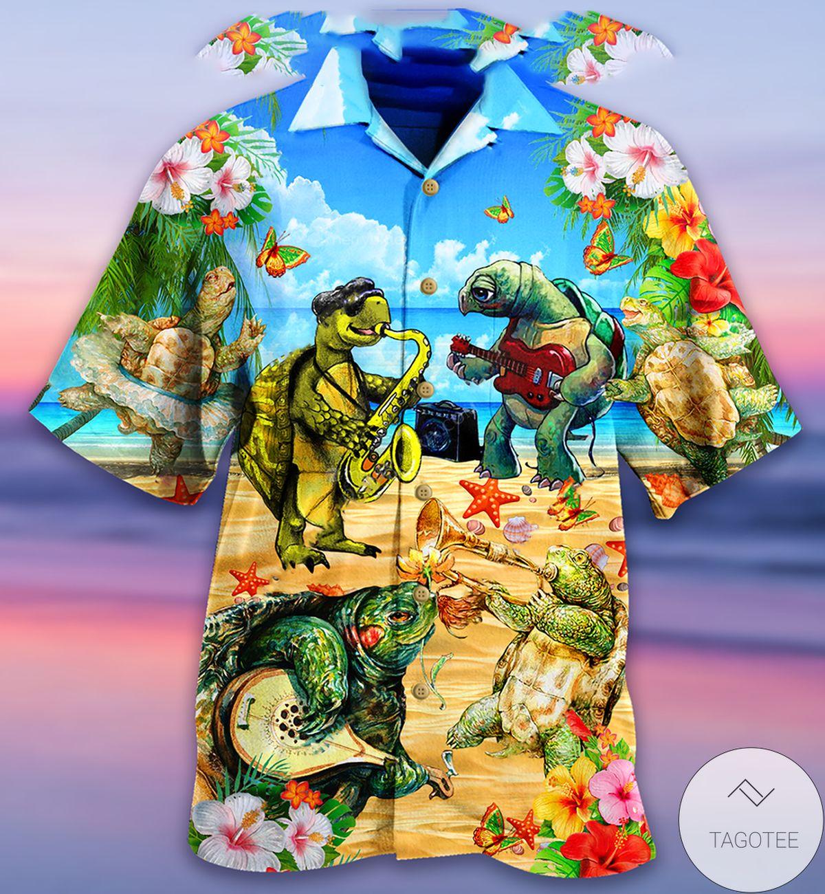Turtle Loves Music Everyday Hawaiian Shirt