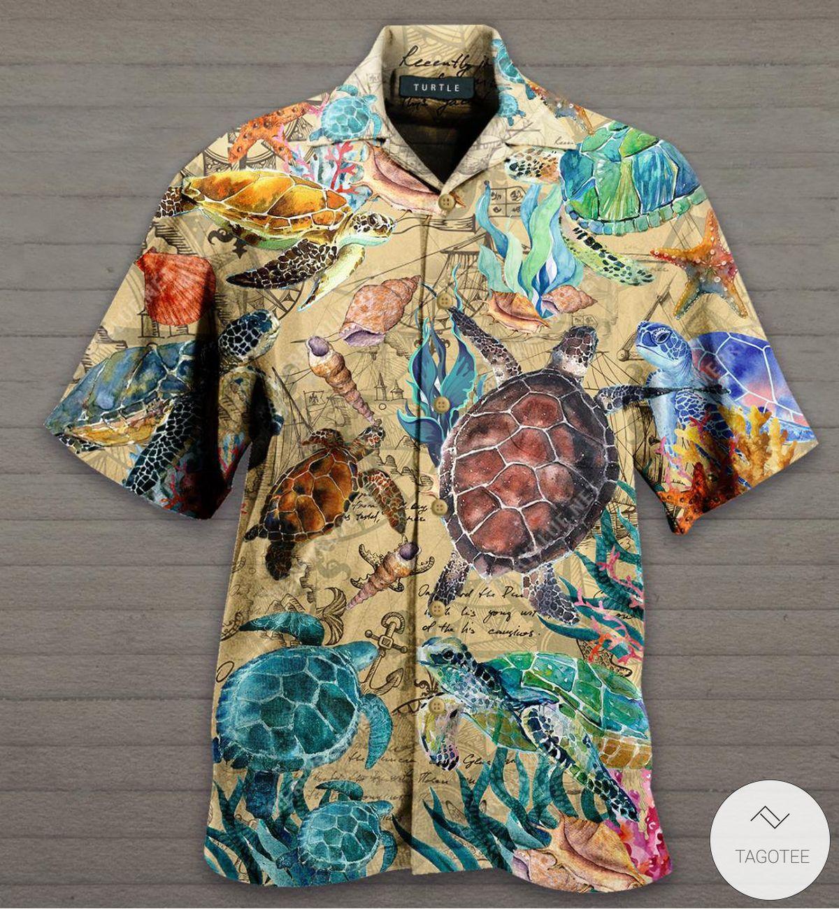 Turtles Under The Ocean Hawaiian Shirt