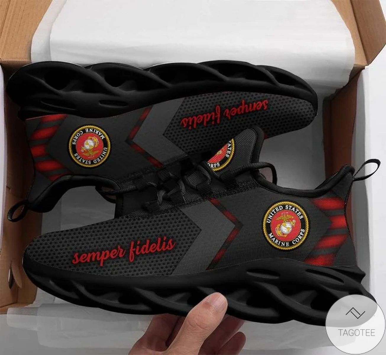 All Over Print U.s Marine Max Soul Shoes