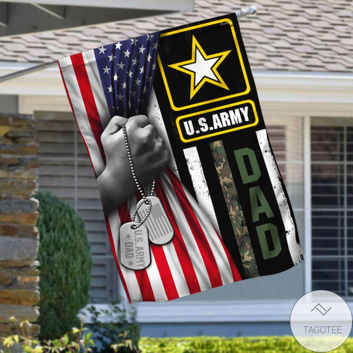 U.s. Army Dad Flag Veteran Flag