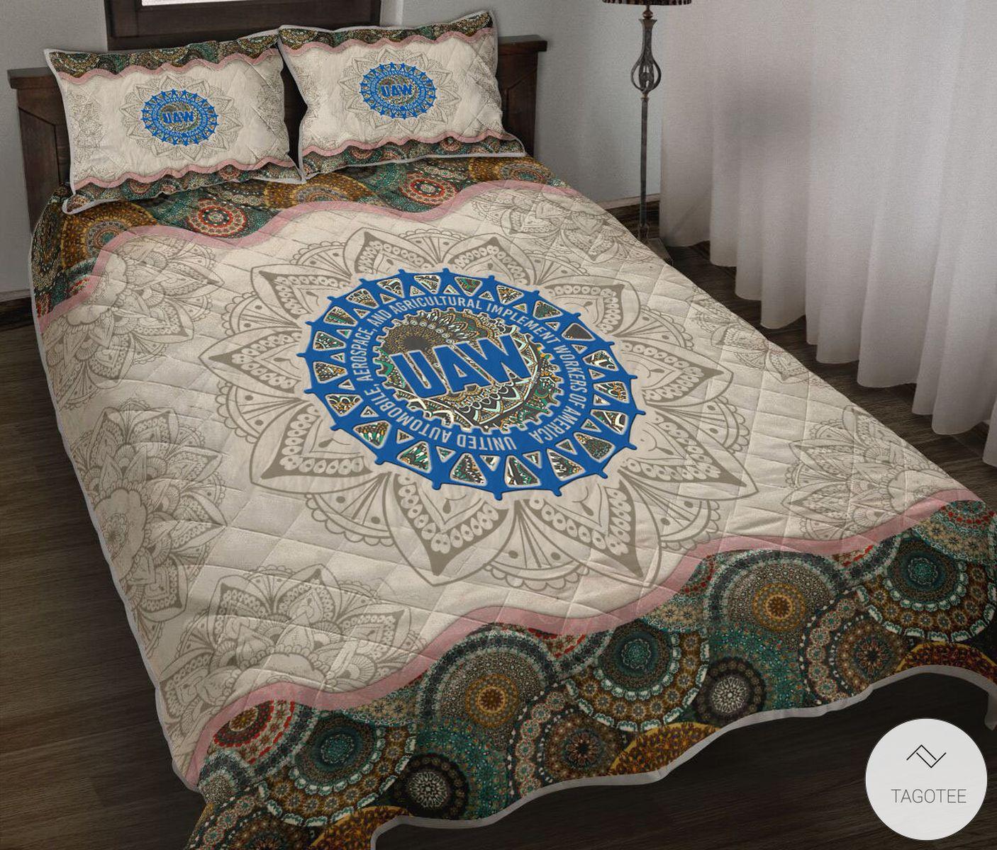 UAW Mandala Quilt Bedding Set