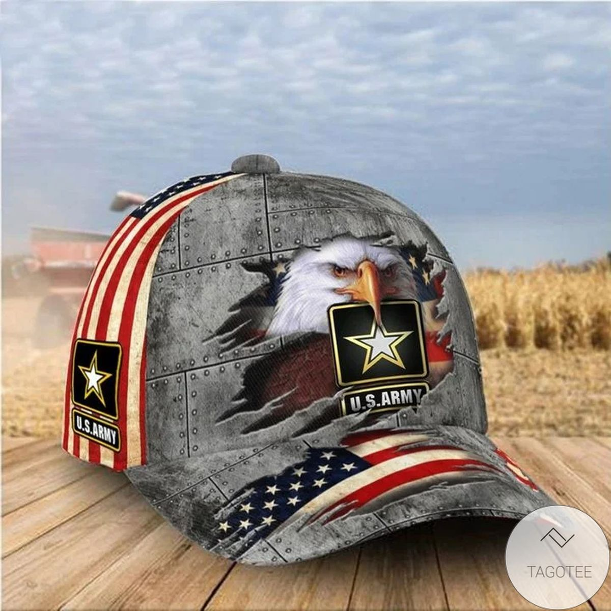US Army Hat Eagle American Flag Patriotic Proud United States Army Baseball Cap Unique