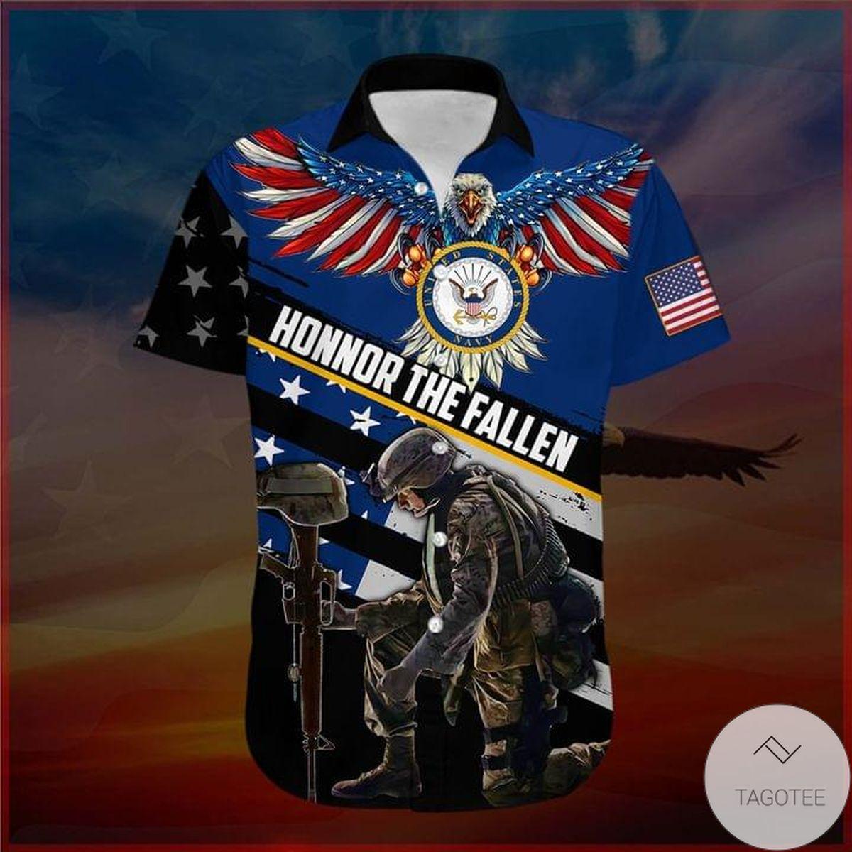 US Navy Veteran Honor The Fallen Hawaiian Shirt
