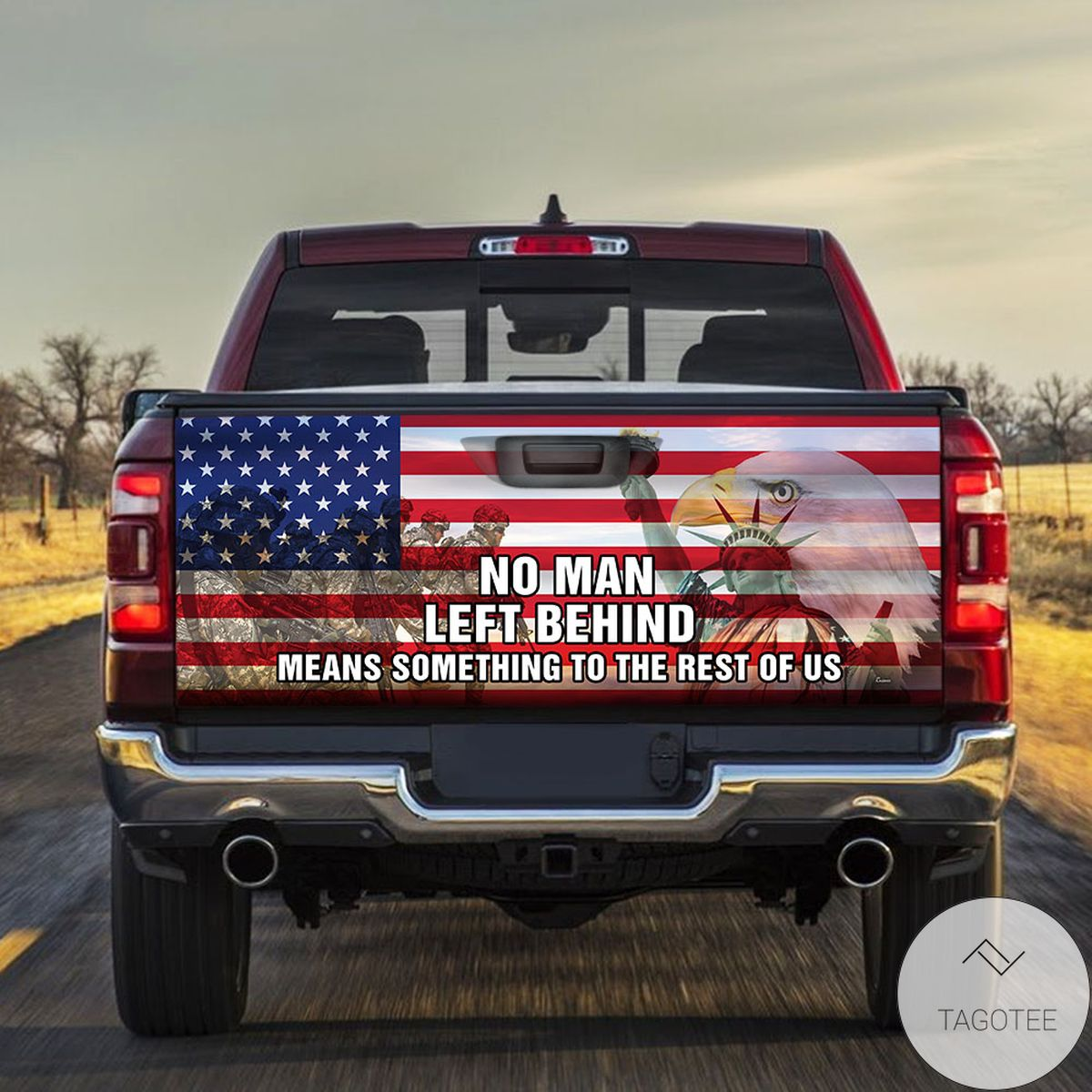 US Soldier Military No Man Left Behind Truck Tailgate Wrap