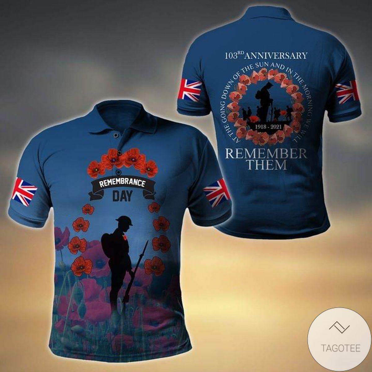 Uk Veterans Remembrance Day Polo Shirt