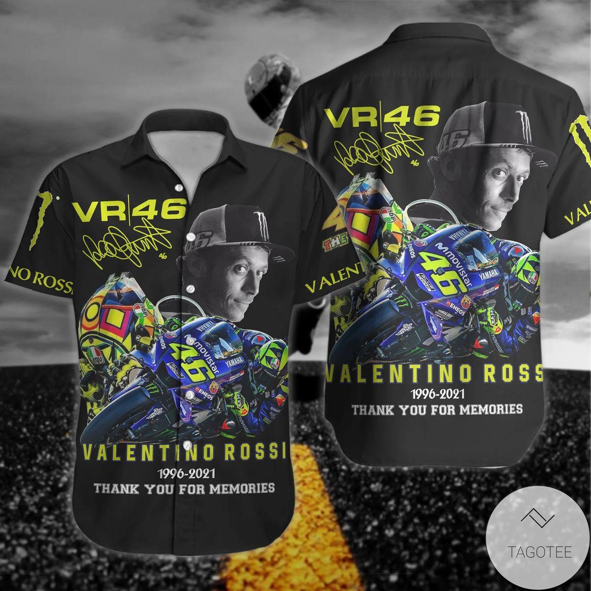 Valentino Rossi Vr46 1996-2021 Hawaiian Shirt