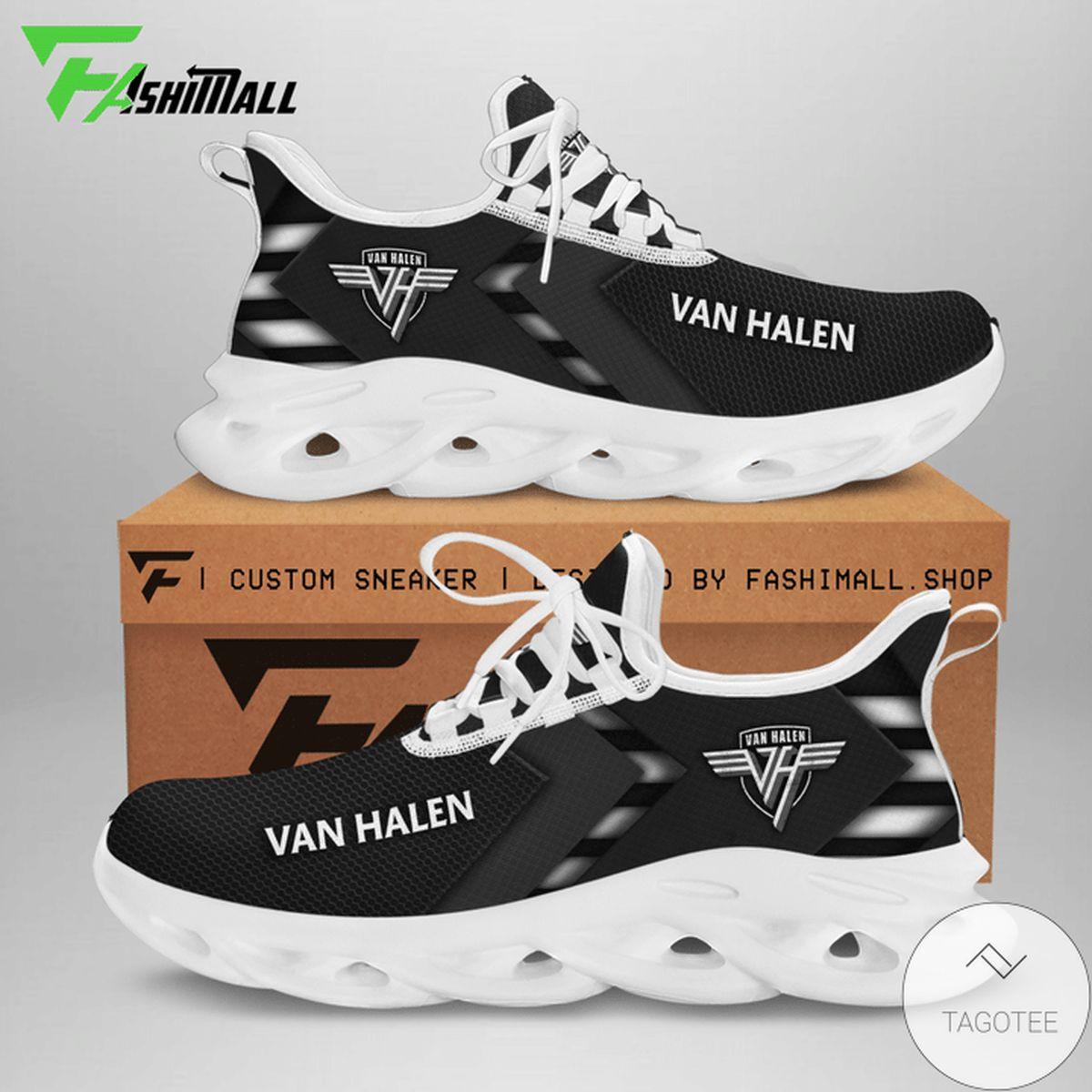 Awesome Van Halen All Black Sneaker Max Soul Shoes