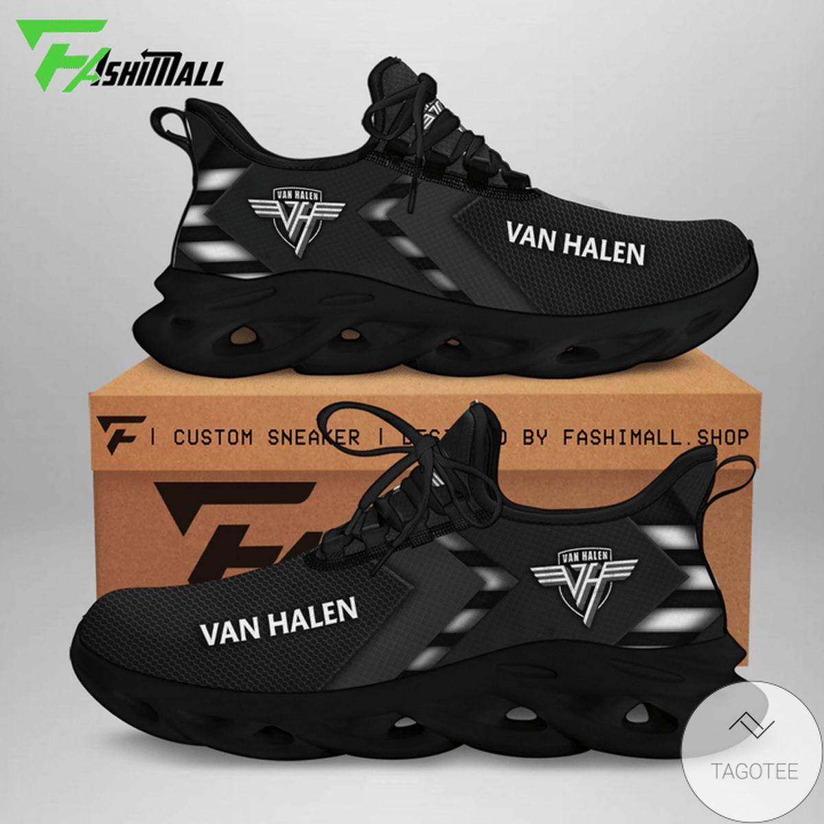 Vibrant Van Halen All Black Sneaker Max Soul Shoes
